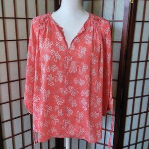 💥$5💥CORAL 3/4 SLEEVE BLOUSE